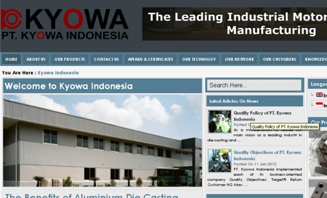 PT Kyowa Indonesia Motorcycle Parts Manufacturing