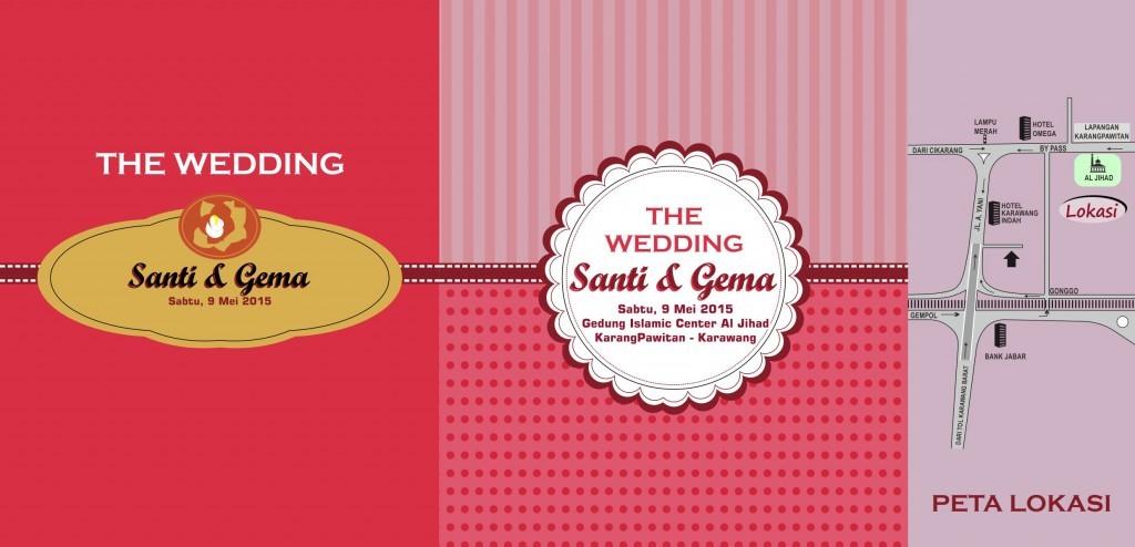 Download Desain Undangan Pernikahan Format Vector - Undangan-Santi-B ...