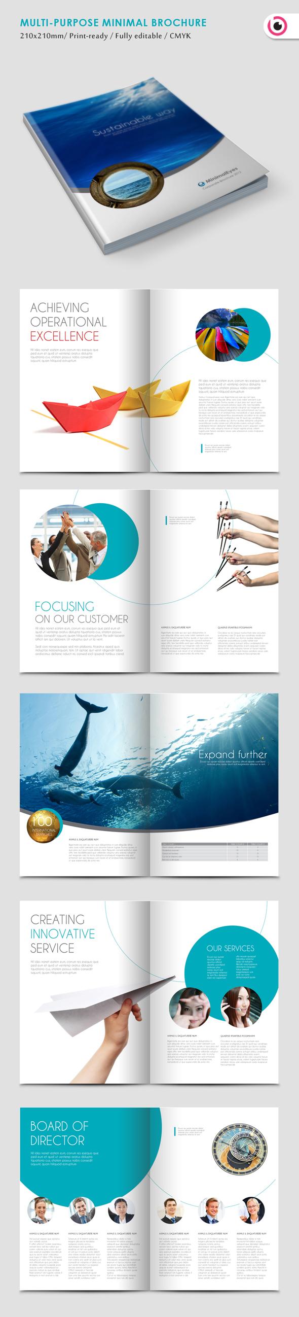 Brosur Perusahaan - Minimal Eyes Brochure Template