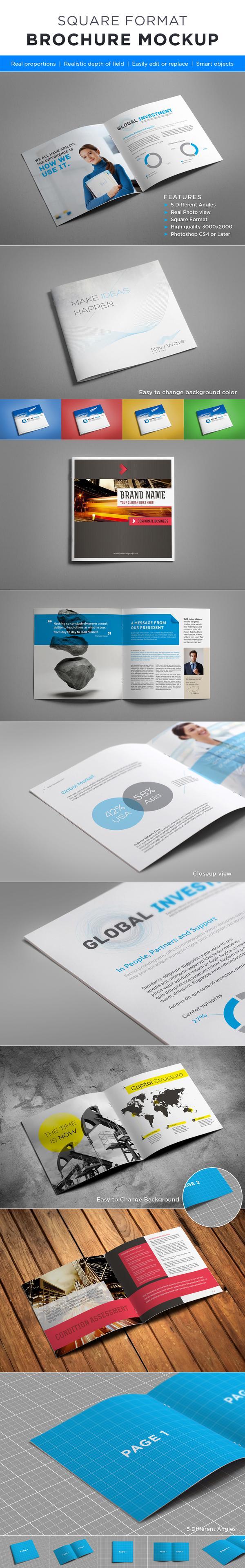Brosur Perusahaan - Square Brochure Mock-up 1