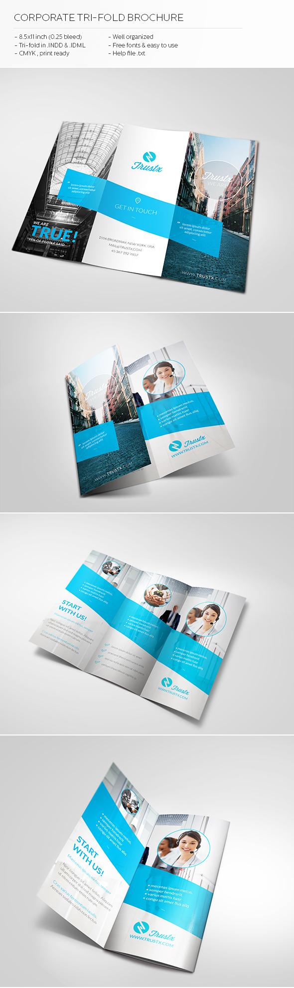 Brosur Perusahaan - Trustx Corporate Tri-fold Brochure