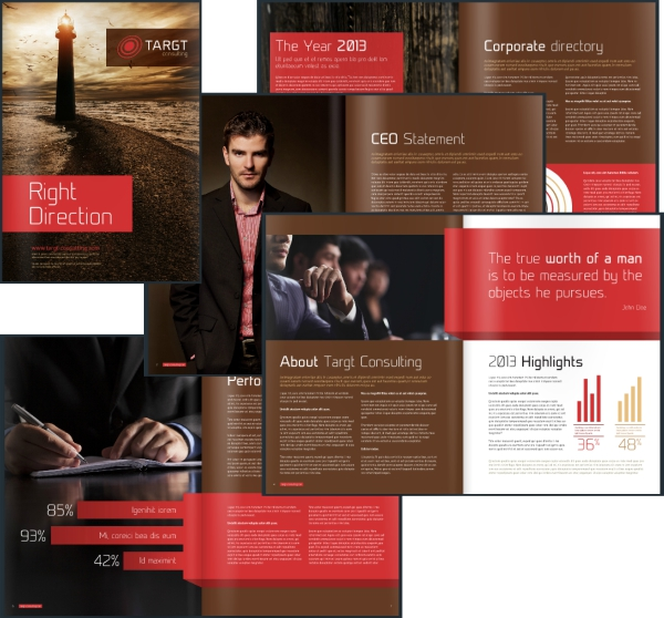 Desain Brosur Bisnis Perusahaan - Corporate Business Brochure