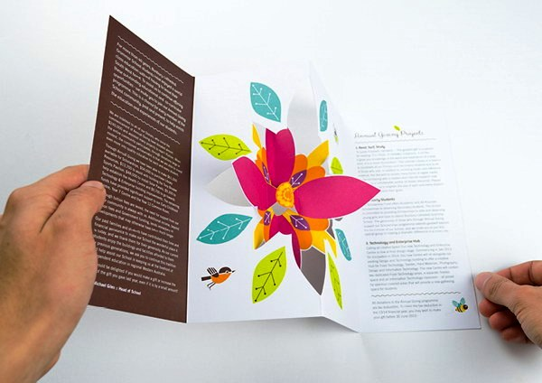 Contoh Desain Brosur Pop Up 3D Kreatif Atraktif - Desain Brosur Pop Up - Annual Giving 2013 1