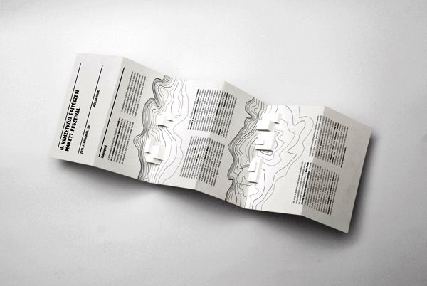 Contoh Desain Brosur Pop Up 3D Kreatif Atraktif - Desain Brosur Pop Up - Architectural Model Festival Brochure