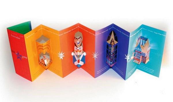 Contoh Desain Brosur Pop Up 3D Kreatif Atraktif - Desain Brosur Pop Up - San Francisco Ballet Brochure