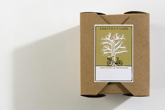 Konsep Desain Kemasan - Chestnut Lane Box Packaging Design