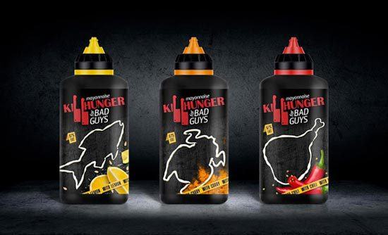 Konsep Desain Kemasan - Killhunger Mayonnaise Bottle Packaging Design