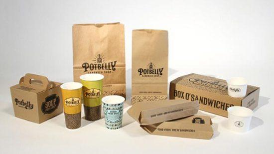22 Contoh Konsep Desain Kemasan Produk - Konsep Desain Kemasan - Potbelly Sandwich Shop Coffee Packaging Design