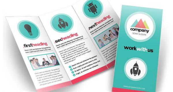 3 fold brochure template psd free download - template desain brosur format psd eps dan corel gratis