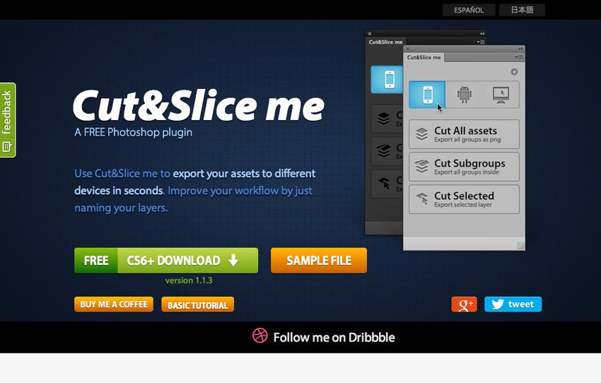 Free Photoshop Plugins-Cut&Slice Me