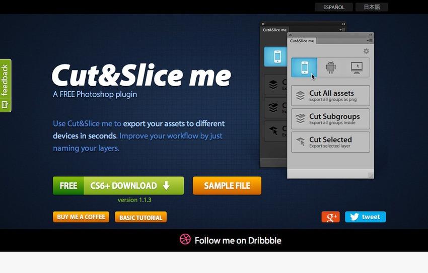 Free Plugin Photoshop untuk Desain Web dan Grafis - Free Photoshop Plugins-Cut&Slice Me