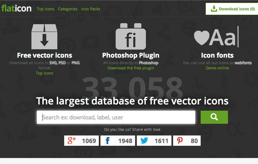 Free Photoshop Plugins-Flaticon
