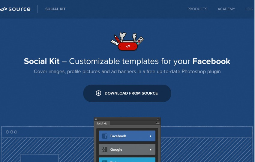 Free Photoshop Plugins-SocialKit