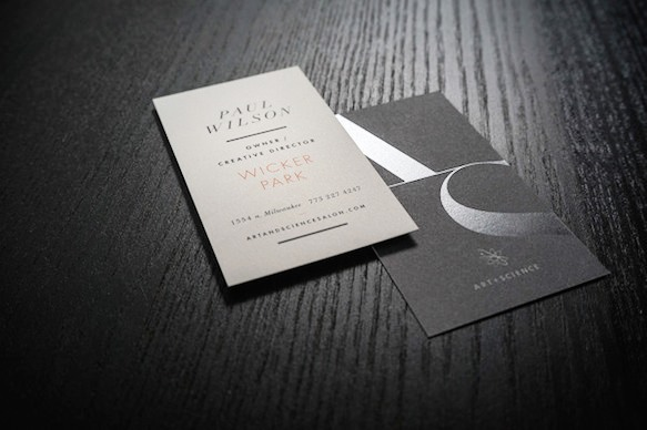 Gambar Desain Kartu Nama Terbaru - Gambar-Contoh-Desain-Kartu-Nama-Art-Science-Salon-by-Will-Miller