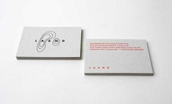 Gambar Desain Kartu Nama Terbaru - Gambar Contoh Desain Kartu Nama - Laand by Passport Design Bureau