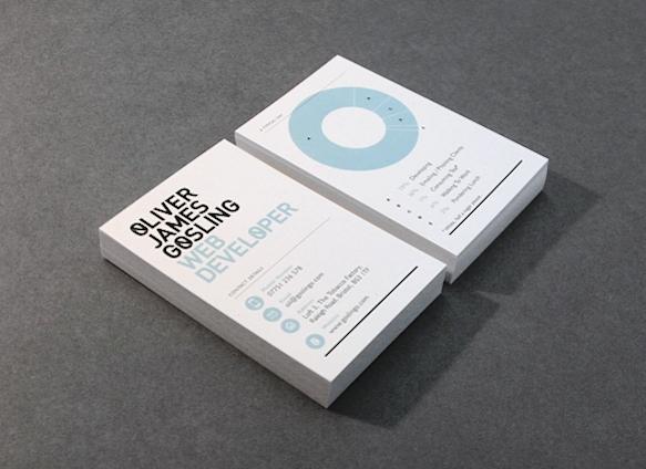 Gambar Desain Kartu Nama Terbaru - Gambar Contoh Desain Kartu Nama - Oliver James Gosling by Hype & Slippers
