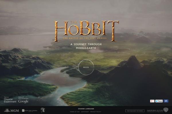 Desain Website Terbaik 2014 - A Journey Through Middle-Earth