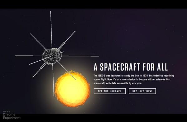 Desain Website Terbaik 2014 - A Spacecraft for All