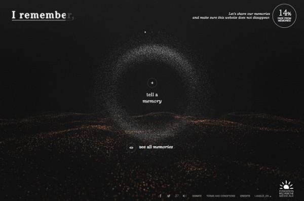 Website Desain Terbaik 2014 - Desain Website Terbaik 2014 - I Remember