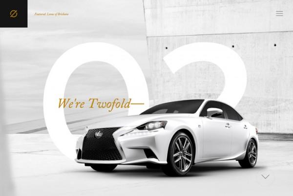 Desain Website Terbaik 2014 - Twofold