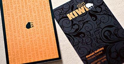 19 Desain Kartu Nama Ini Akan Menginspirasi Anda - Contoh-Gambar-Kartu-Nama-Inspiratif-Slim-Kiwi