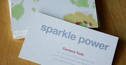 19 Desain Kartu Nama Ini Akan Menginspirasi Anda - Contoh-Gambar-Kartu-Nama-Inspiratif-Sparkle-Power