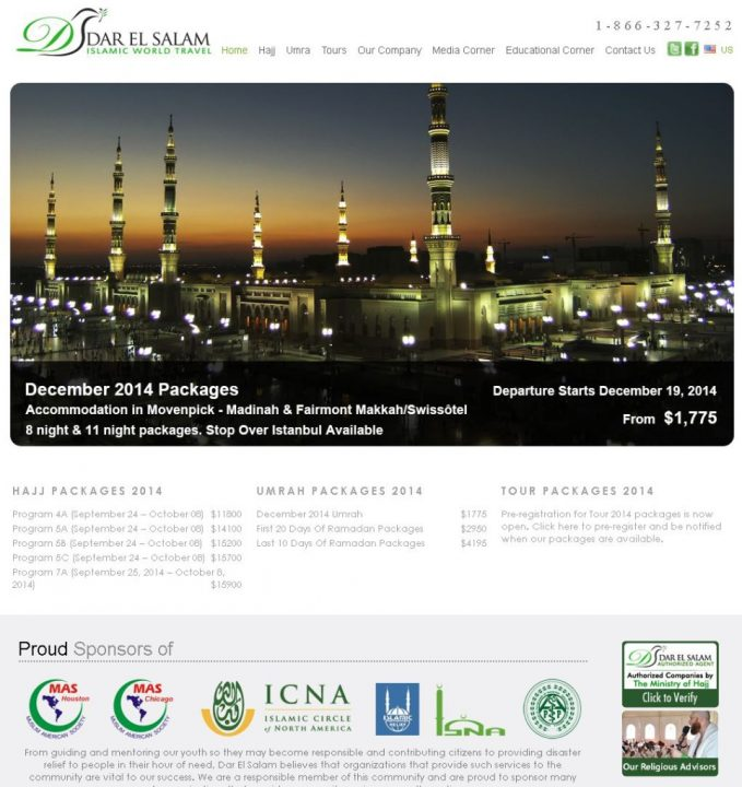 Best 9 Islamic Travel Websites With Good Seo - Islamic-Travel-Website-Darul-Salam
