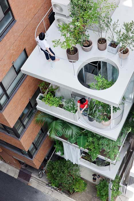 Desain Interior Terbaik Untuk Rumah Sempit - Garden and House by Ryue Nishizawa 1