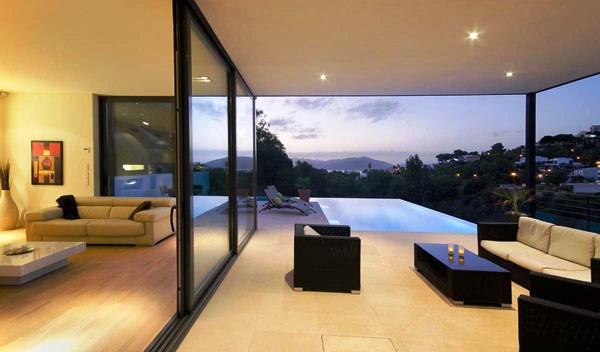 Tips Merenovasi Rumah Menjadi Type Minimalis - Modern-villa-in-mallorca-with-generous-interiors-and-panoramic-views
