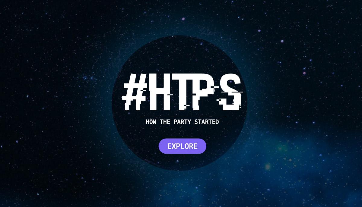 Website dengan Tipografi Keren - How The Party Started