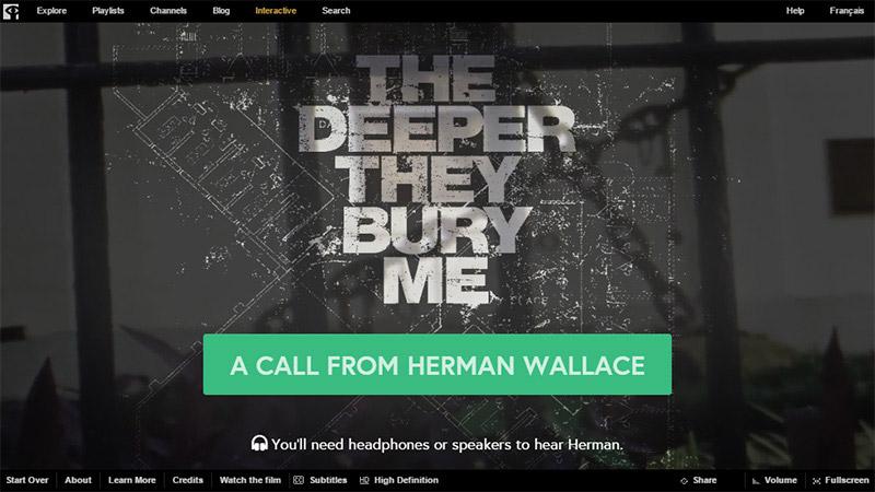 Website dengan Tipografi Keren - The Deeper They Bury Me NFB