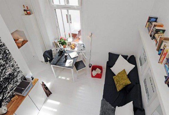 Tips Interior Apartemen Solusi Perbaiki Retak Tembok - Interior Design Narrow Room Apartement 03