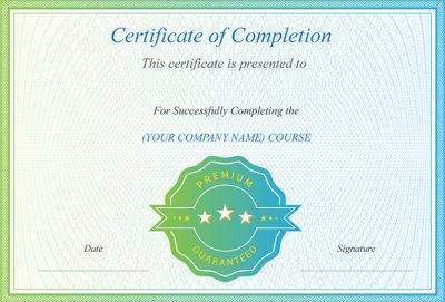 Desain template sertifikat untuk ijazah dan penghargaan