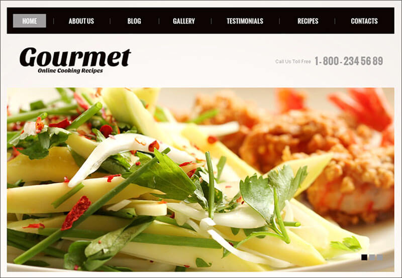 Template Theme Blog Resep Masakan