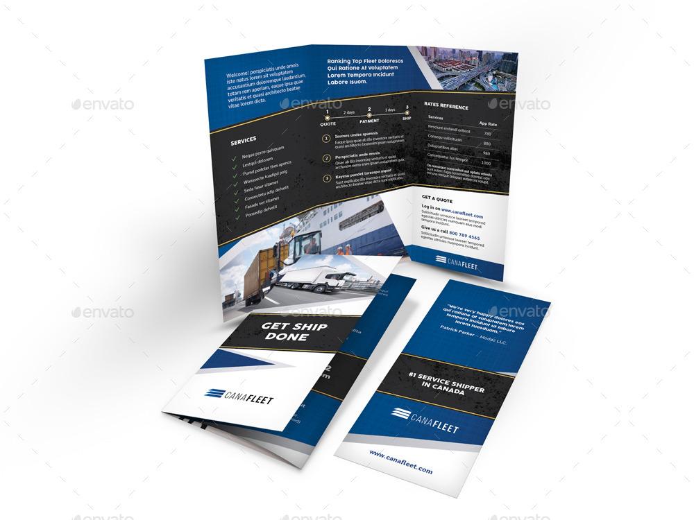 transportation-company-trifold-brochure