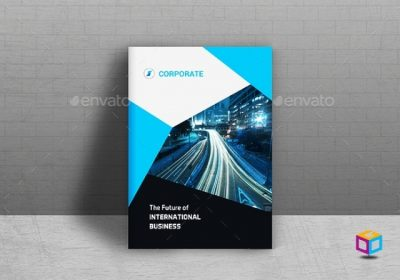 Company Profile Perusahaan Tema Biru Download Graphicriver Premium
