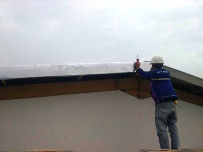 Rumah Hunian Minimalis Menggunakan Konstruksi Atap Datar