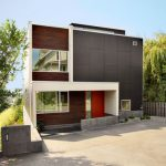 Rumah minimalis dengan tema taman hijau