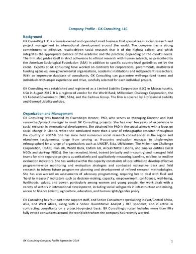 Contoh Narasi Company Profile Konsultan