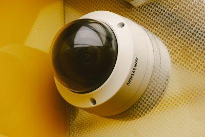 Video Surveillance Market. Modern equipment for video surveillance on wall
